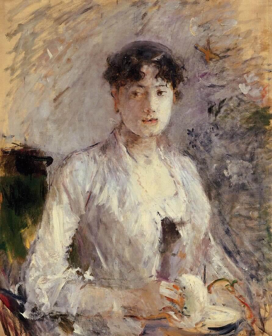 """""""Młoda kobieta wfiołkach"""" - Berthe Morisot"""
